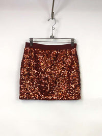 Thrifted Sequin Mini Skirt : S/M : The Burning Love Skirt