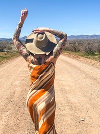 Vintage Maxi Dress : Small : The Puesta del Sol Dress
