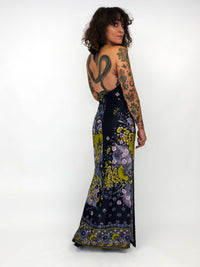 Vintage Dark Floral Maxi Dress : XS : The Hartley Dress