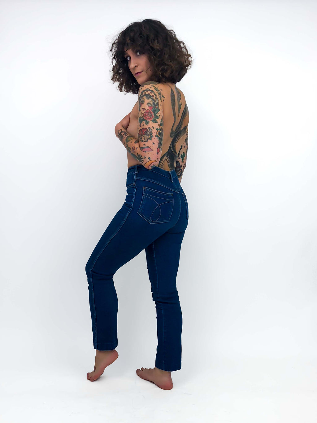 Vintage Dark Denim High Waisted Jeans : XS Small : The Calvins