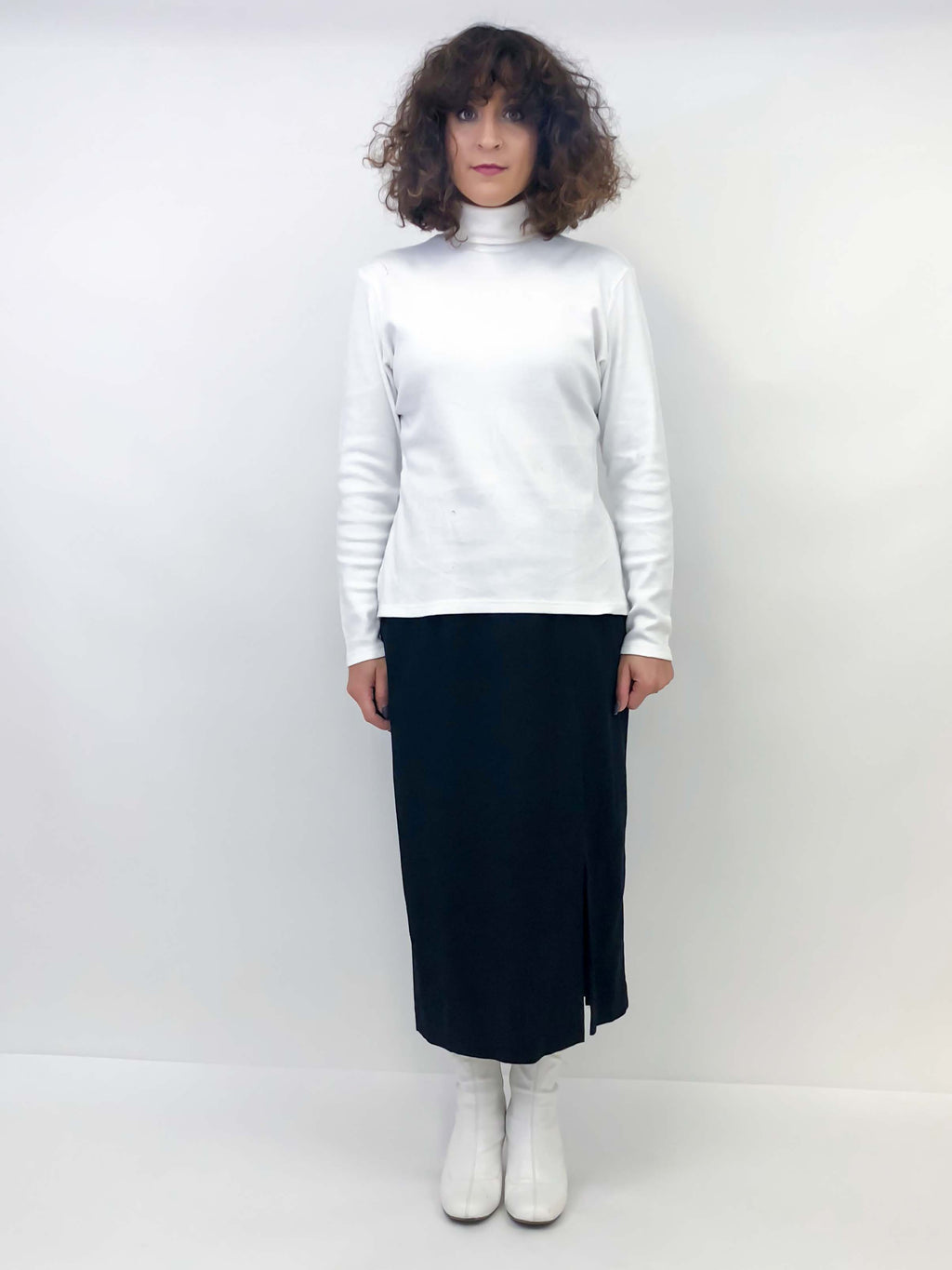 Vintage White Turtleneck : Medium : Alyssa Turtleneck