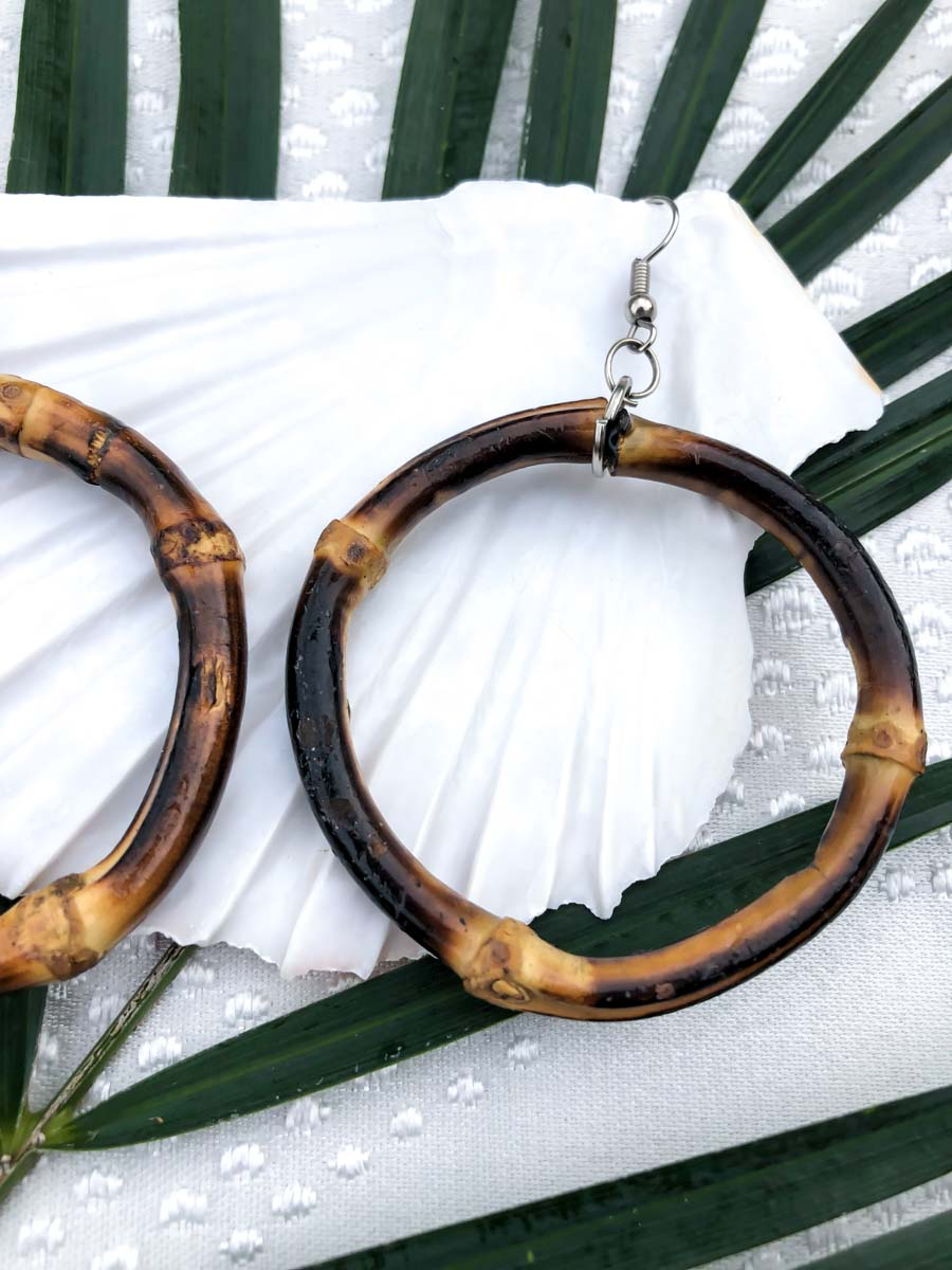 Vintage Bamboo Hoop Earrings :: The Bamboos