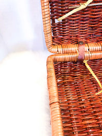 Vintage Straw Basket Handbag :: The Portage Park Tote