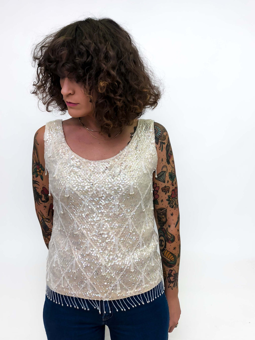 Vintage Sweater Blouse : Medium : The Imperial Top