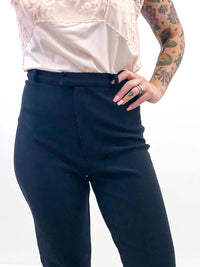 Vintage Black High Waisted Stretch Pant : Small Medium : The Classique Pant