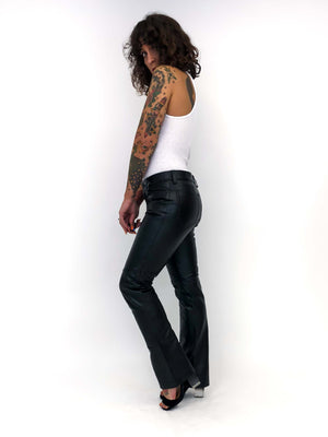 Vintage Leather Boot Cut Pants : Small : Step In Pants