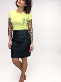 Vintage Black Leather Pencil Skirt : Small : The Jett Skirt