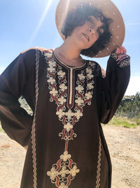 vintage indian kaftan brown