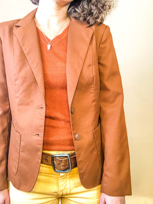 vintage brown blazer