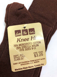 Vintage Knee Hi Socks :: The Carlson Knee His : Brown