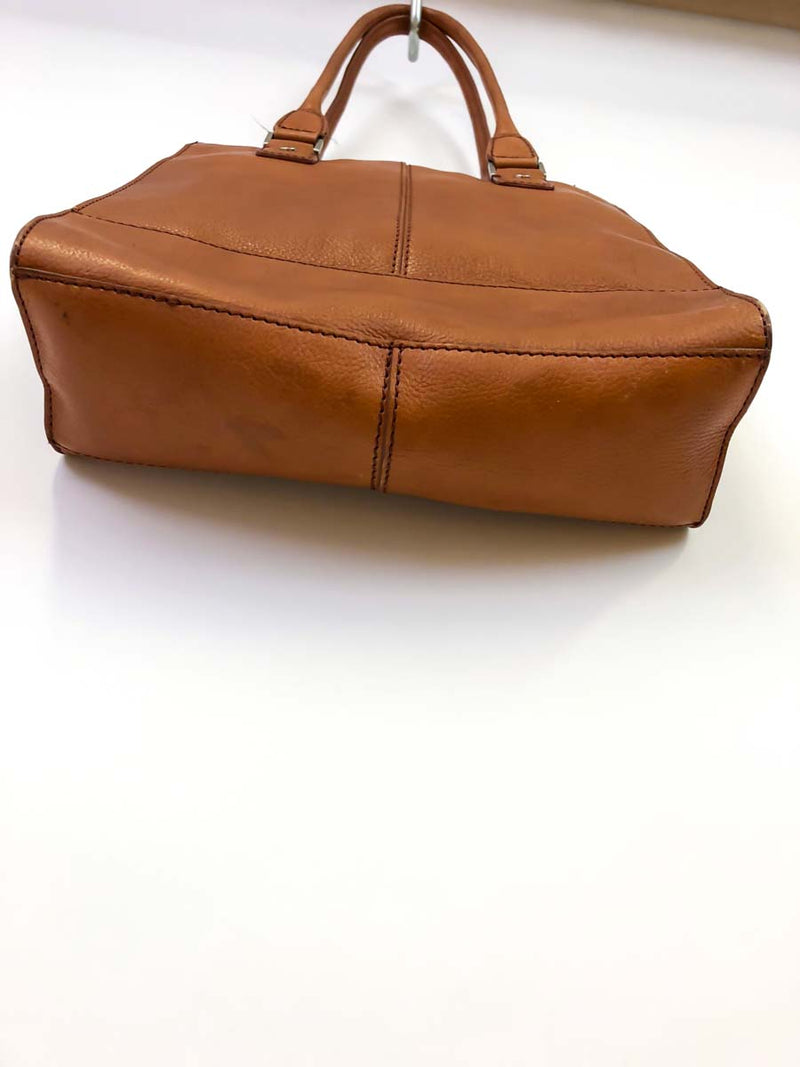 Vintage Warm Brown Leather Shoulder Bag :: Wilson's Tote