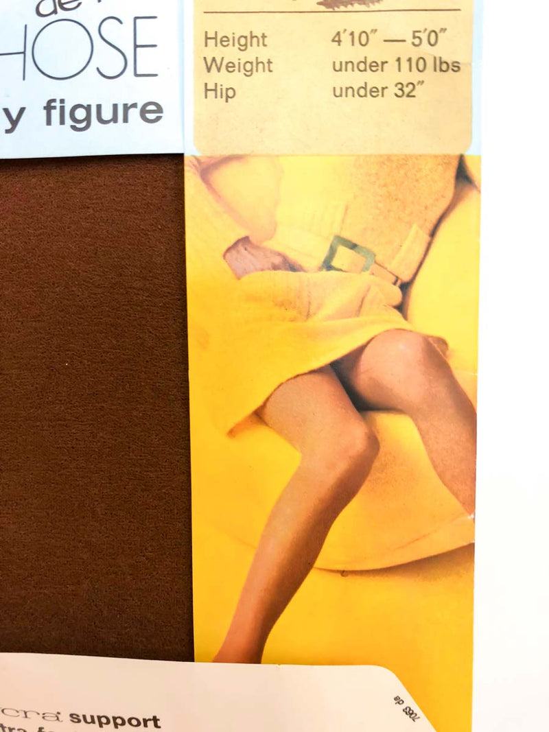 Vintage Sheer Brown Pantyhose : XS : The Tiny Babes Pantyhose