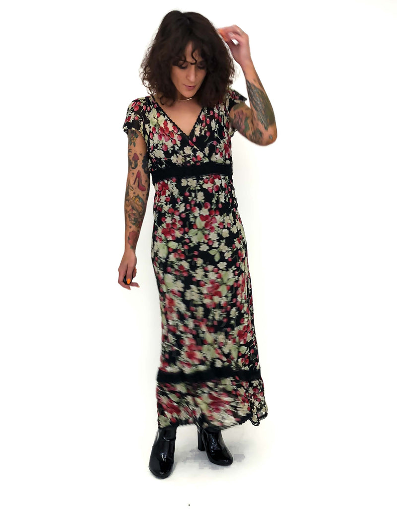 Vintage Cherry Print Dress : Medium : The Gwen Steph Dress
