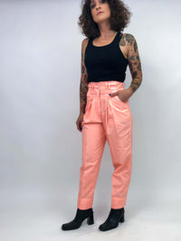 Vintage Coral Trousers : Small Petite : The Space Legs Trouser