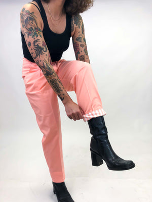 Vintage Coral Pant : Small Petite : The Space Legs Trouser