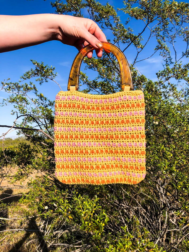 Vintage Crochet Mini Handbag : The Angie Bag