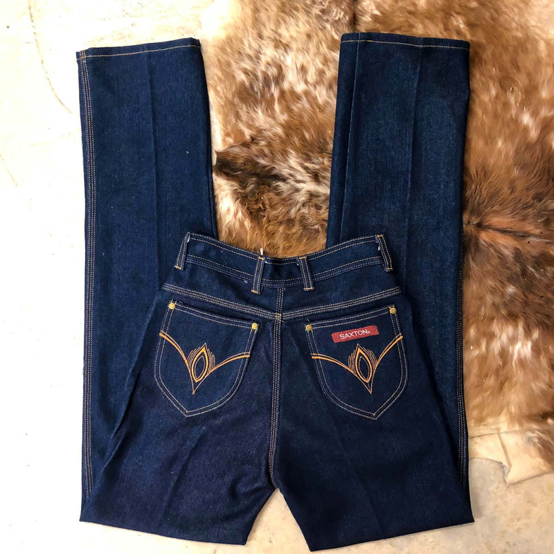 Vintage Dark Denim High Waisted Jeans : XS Small : The Saxton Jeans