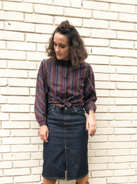 Vintage Dark Denim Pencil Skirt : Small : The Upper West Skirt