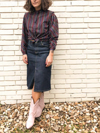 Vintage Stripe Blouse : Medium Petite : The Study Hall Top