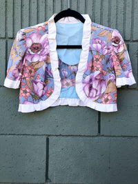 Vintage Floral Shrug : XS/S : The Autumn Garden Shrug