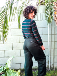 Vintage Forest Green Utility Trousers : Small Petite : Tweeds Slacks