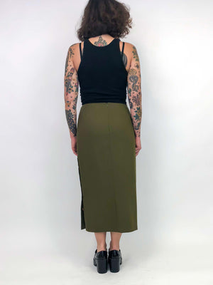 Vintage Fatigue Green Pencil Skirt : Small : Herman Skirt