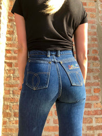 Vintage High Waisted Dark Denim Jeans : XS : The Sasson Jeans
