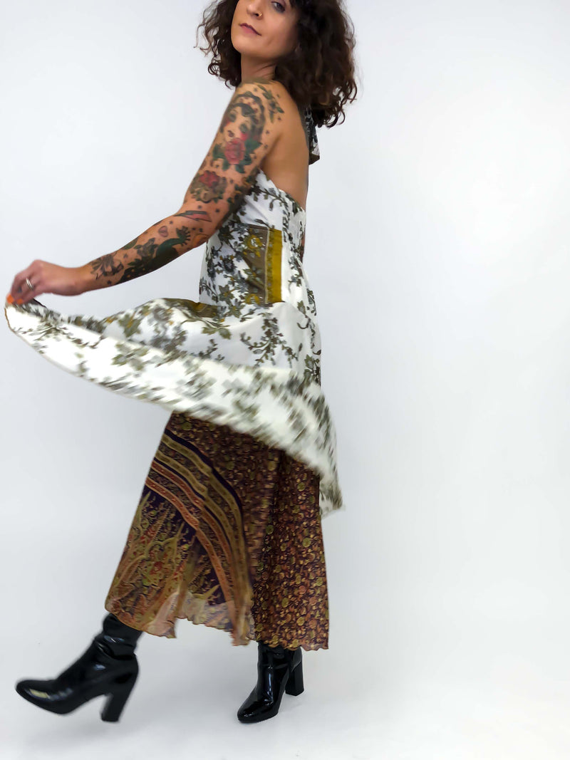 Vintage Floral Scarf Dress : Medium : The Alavida Dress