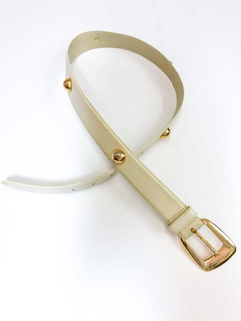 vintage white and gold belt