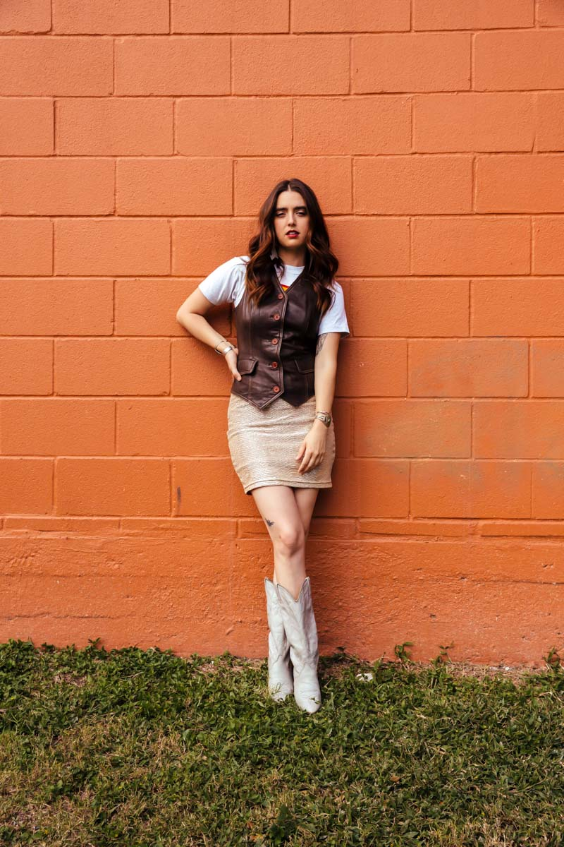 Vintage Brown Leather Vest : Small : The Bandito Vest