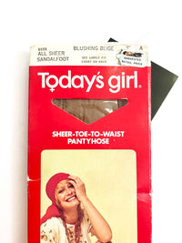 Vintage Sheer Pantyhose :: Today's Girl Tights : Blushing Beige