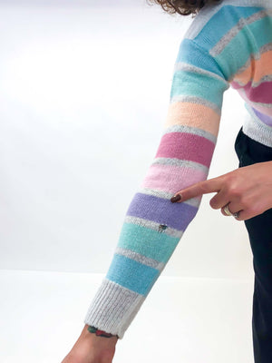 Vintage Pastel Stripe Sweater : XS Small : The Beeline Sweater