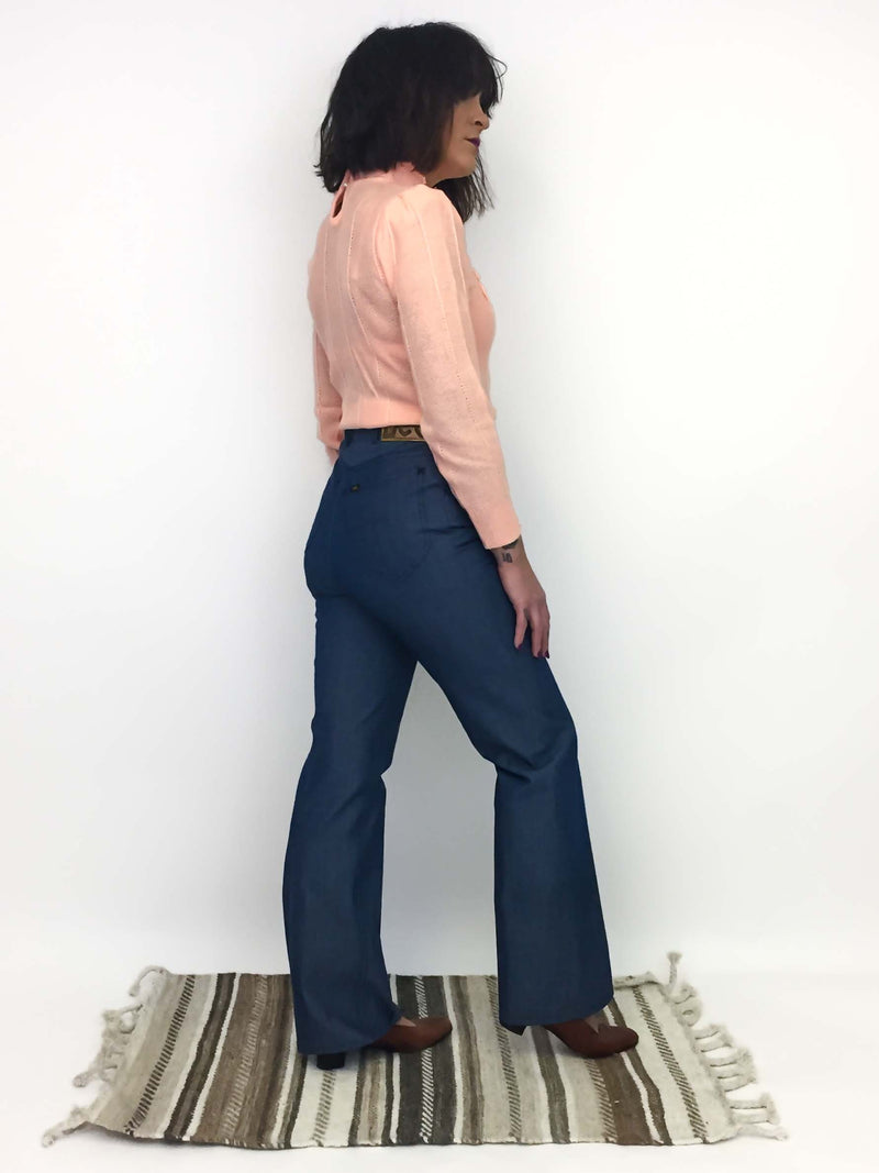 Vintage Lee Denim Flares : Small Medium : The Rider Jeans
