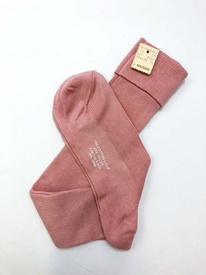 Vintage Knee Hi Socks :: The Magnin Knee His : Soft Pink