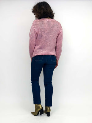 Vintage Pink Knit Sweater : Small : The Pretense Sweater