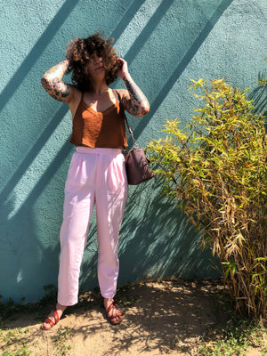 Vintage Pink Trousers : Small Petite : The Fundamental Trouser