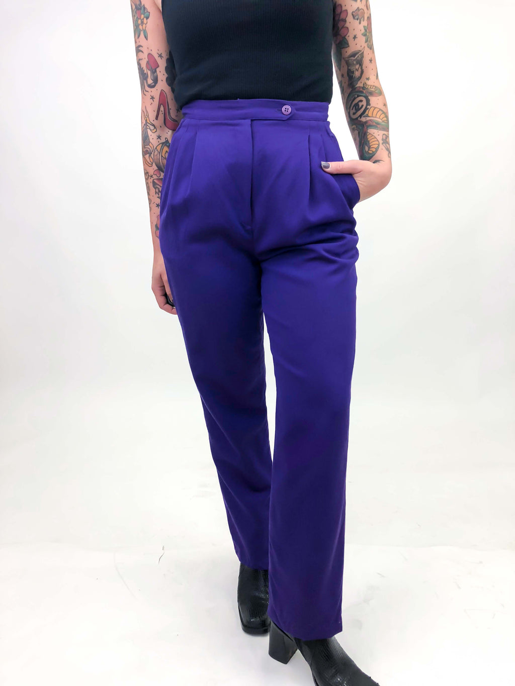 Vintage Royal Purple Trousers : XS/ Small : The Royal Pant