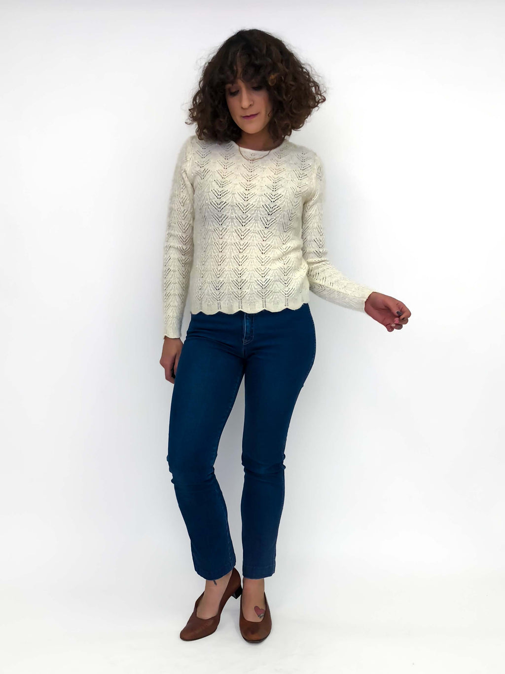 Vintage Scalloped Sweater : Small : Ana Sweater
