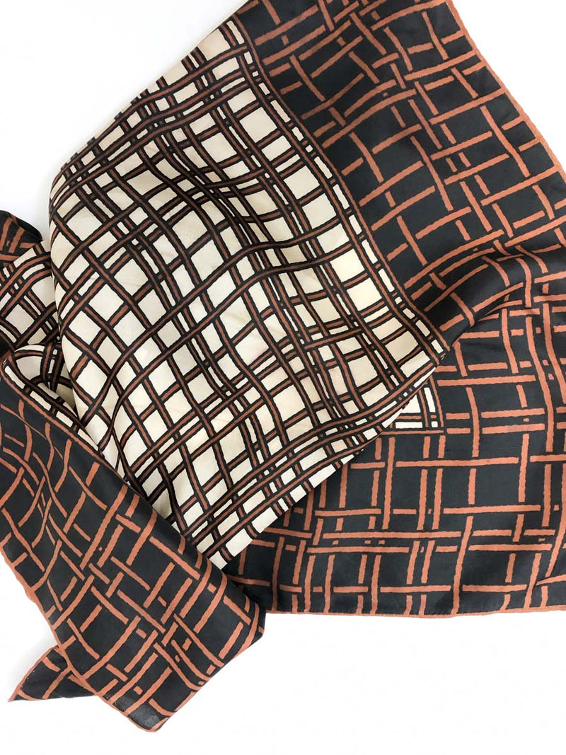 Vintage Printed Scarf :: The Basket Scarf