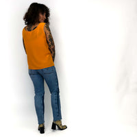 Vintage Orange Silk Tank : Medium : The Tangerine Dream Tank