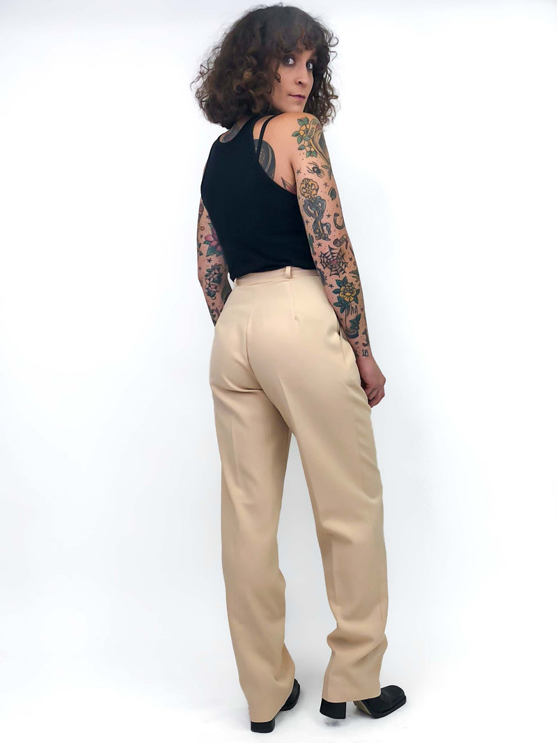 Vintage Tan Trousers : XS/ Small : The Dizzy Pant