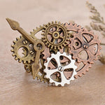 bague steampunk engrenage