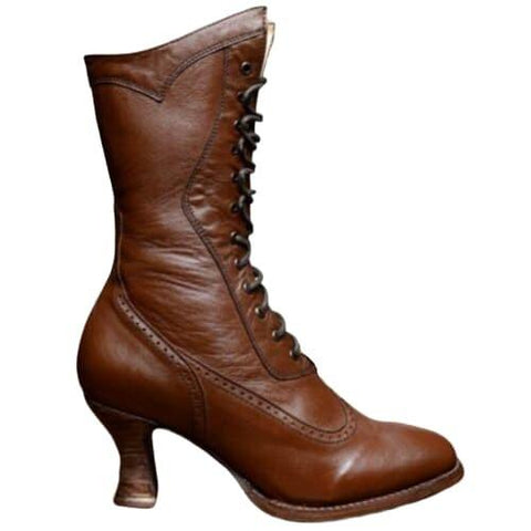bottines steampunk marron