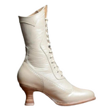 bottines steampunk blanche
