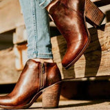 bottines vintage marrons