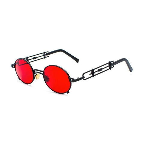 lunettes steampunk rouge