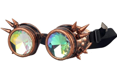 goggles steampunk marron
