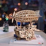 maquette dirigeable steampunk