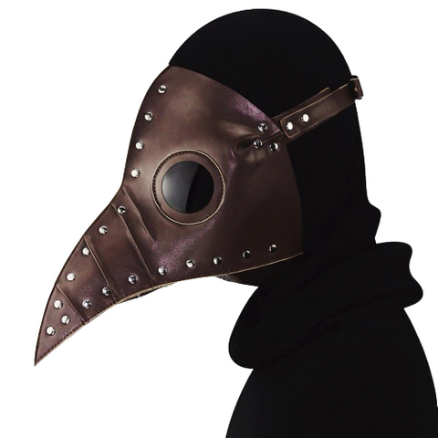 masque peste marron