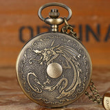 montre gousset dragon asiatique